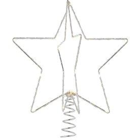 Juletræstop, Stjerne, Sølv, H 25 cm