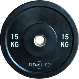 Titan Life Rubber Bumper Plate 15 kg