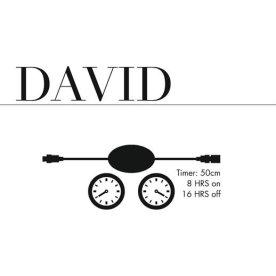 David Timer, 30 cm, 8 timer on/16 off