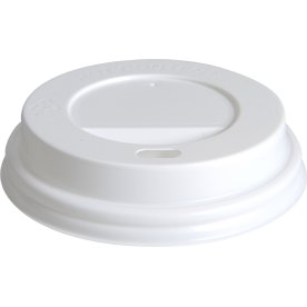 Låg til kaffebæger 24 cl, hvid