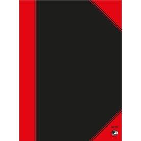 Kinanotes A4, linjeret, sort/rød