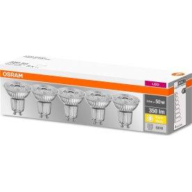 Osram LED Spotpære GU10, 3,6W=50W 5-pak