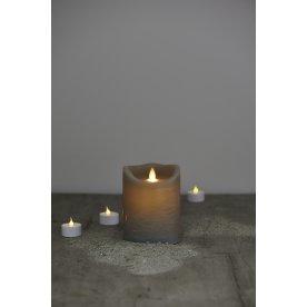 Sara LED vokslys, Antracit, H 12,5 cm