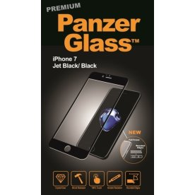 Panzer Glass PREMIUM til Apple iPhone 7-8, sort