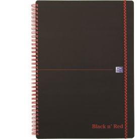 Oxford Black n'Red Notesbog A4, kvadreret