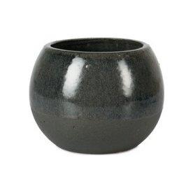 Krukke, grå/blå, Ø 14cm