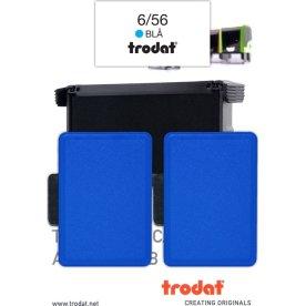 Stempelpude Trodat 6/56, 2 stk. blå