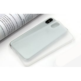 Twincase iPhone XR case, transparent hvid