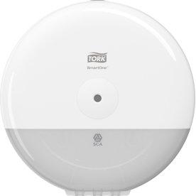 Tork T9 SmartOne Mini Dispenser toiletpapir, hvid