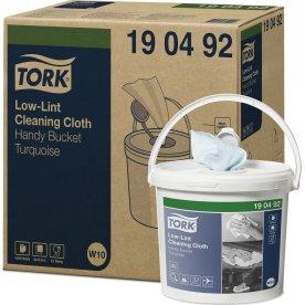 Tork W10 Aftørringsklud, sensitiv, spand, turkis