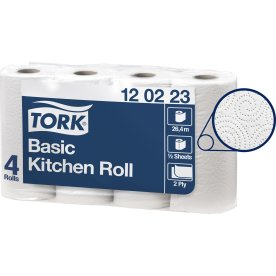 Tork Basic køkkenrulle, 2-lags, 32 ruller