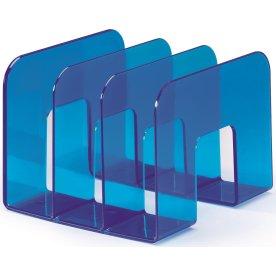 Durable bogstøtte / katalogholder, transparent blå