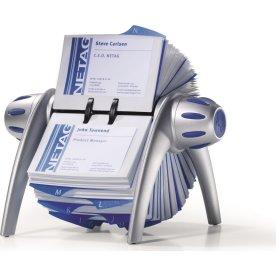 Visifix Flip visitkortholder, 400 kort, sølv