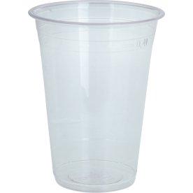 Komposterbart Drikkebæger, klar, PLA, 420 ml