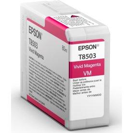 Epson T8503 blækpatron, magenta, 80ml