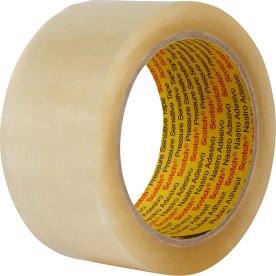 3M Scotch Pakketape 50 mm, akryl, low noise, klar