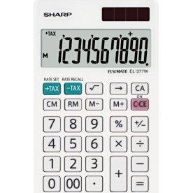 Sharp EL-377W lommerenger, 10 cifre, hvid