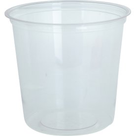 Komposterbar Deli beholder, klar, PLA, 710 ml