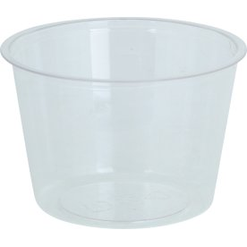 Komposterbart Portionsbæger, klar, PLA, 120 ml