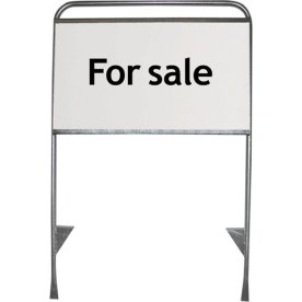"""Skiltplade t/ """"Estate Standard"""", 62.5x29.8cm, PS"""