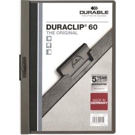 Durable Duraclip 60 Klemmappe, antracitgrå
