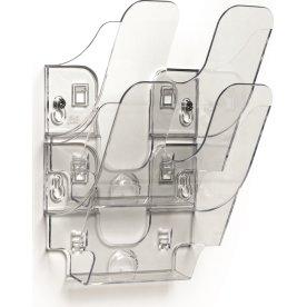 Durable Flexiplus Brochurestativ 2 A5 høj, transp.