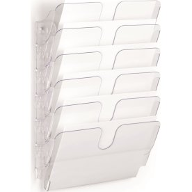 Durable Flexiplus Brochurestativ 6 A4 tvær, transp