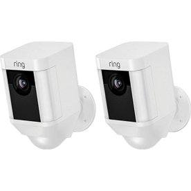 Ring Spotlight Cam Battery, duopack, white