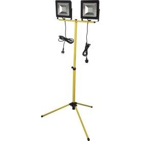 Nor-tec arbejdslampe LED 2X50W med teleskopstander