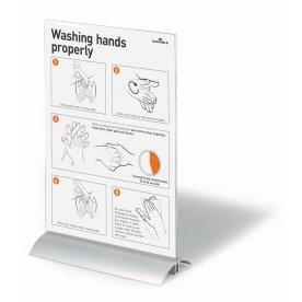 Durable brochureholder aluminium A4
