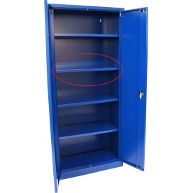 Ekstra hylde til opbevaringsskab B.92 cm, Blå