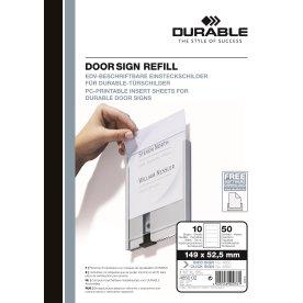 Indstik til dørskilt (50 stk.) 149 x 52.5 mm, hvid