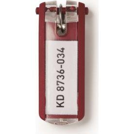 Durable nøgleskilt til nøgleskab 6 stk, rød