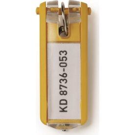 Durable nøgleskilt til nøgleskab 6 stk, gul