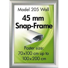 Alu Plakatramme, 45mm Snap-frame, A0, Sølv