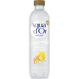 Aqua d'or Sparkles Ingefær og Citron, 0,5 l