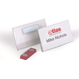 Durable Navneskilt m. magnet 40x75 mm, 25 stk.
