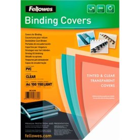 Fellowes gennemsigtig PVC Covers – A4, 150 mikron