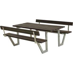 Plus Wega Bord/Bænkesæt m/ryglæn, plast, 177 cm