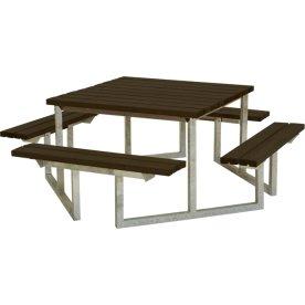 Plus Twist bord/bænkesæt, Sort, 204 cm