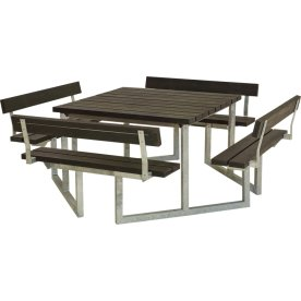 Plus Twist bord/bænkesæt m/4 Ryglæn, Plast, 227 cm