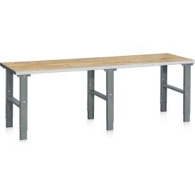 Arbejdsbord 500 kg, Egeparket, 2500x800 mm