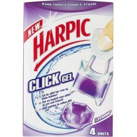 Harpic Click Gel Toiletblokke, lavendel, 4 stk.