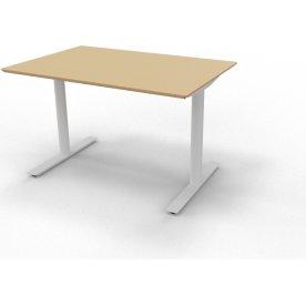 InLine hæve/sænkebord 120x80 bøg/alu