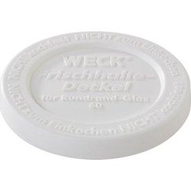 Plastlåg til Weck patentglas Ø 6.8 cm, hvid, 5 stk
