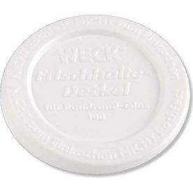 Plastlåg til Weck patentglas Ø10.8 cm, hvid, 5 stk