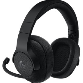 Logitech G433 7.1 Surround Gaming Headset, sort