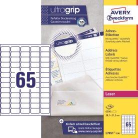 Avery L7651-100 mini etiketter, 38,1 x 21,2mm