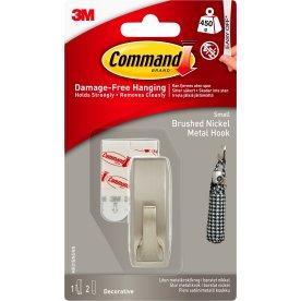 Command Metalkrog, børstet nikkel, lille