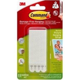 Command Klæbestrips til billedophæng, smal, hvid